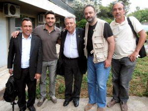 """""""Μαζί"""" με τον Jose Orbaiceta και τον Arildo Mota Lopes"""