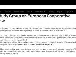 To Προσχέδιο Αρχών Ευρωπαϊκής Συνεταιριστικής Νομοθεσίας (PECOL) της Ομάδας Μελέτης για την Ευρωπαϊκή Συνεταιριστική Νομοθεσία